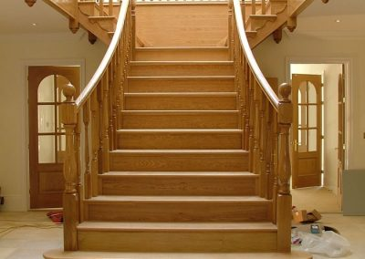 Oak Curved Staircase