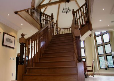 American black walnut and oak staircase